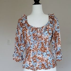 NWT Free People Floral Top Size Small